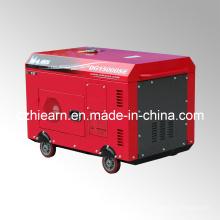Generador diesel de dos cilindros refrigerados por aire de color rojo (DG15000SE)