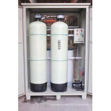 Filtro del suavizador de agua del tanque de la resina de FRP para quitar la dureza del agua