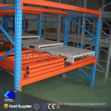 China Nanjing Jracking Fabric storage steel racks warehouses Push Back Pallet Racking System