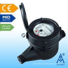 Medidor de água plástico de tipo pistão volumétrico Certificated meados