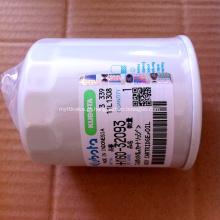 Filtro de óleo HH160-32093 das peças de motor da máquina escavadora de Kubota