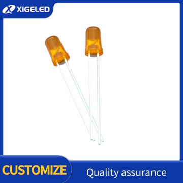 LED de cabeza redonda naranja de pelo naranja de 5 mm