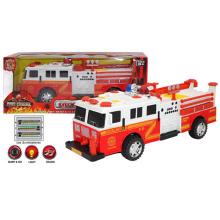 B / O Plastic Kids Vehicle Toys Universal Fire Truck con luz