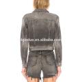 últimas mulheres jeans jaqueta moda jeans e conjunto de vestuário casaco
