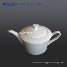Glaze Bone China Eco-friendly em branco Branco fino pote de chá de cerâmica
