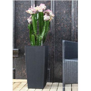(BC-F1021) Plastic Rattan Fashionable Square Self-Watering Flower Pot