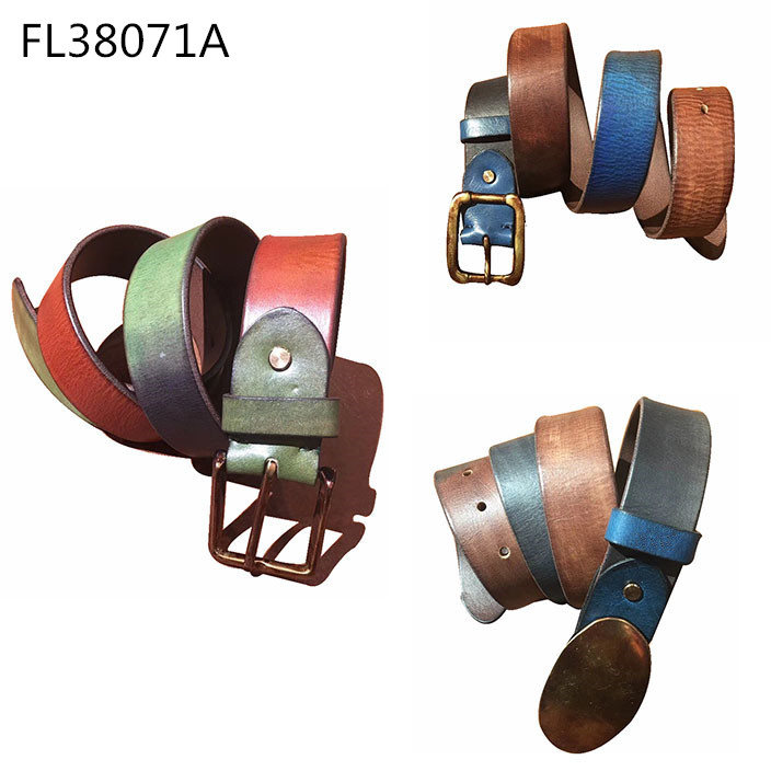Retro Contrasting Color Belt