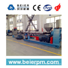 Sj100 / 34 PE / PP Pelletizing Flake Line-Water-Ring Cutting