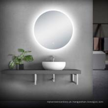 penteadeira de banheiro com espelho LED moderno