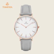 2016 relógio de pulso de quartzo com pulseira de couro 72298