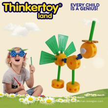Schneide Pfau Plastik Tier Spielzeug für Kindergarten