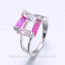 Neueste Ehering Designs Türkische Silber kaufen in Istanbul Großhandelspreis Mode Opalring
