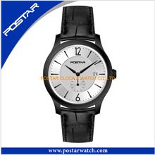 Elegant Quartz Watch with Genuine Leather Band for Ladies