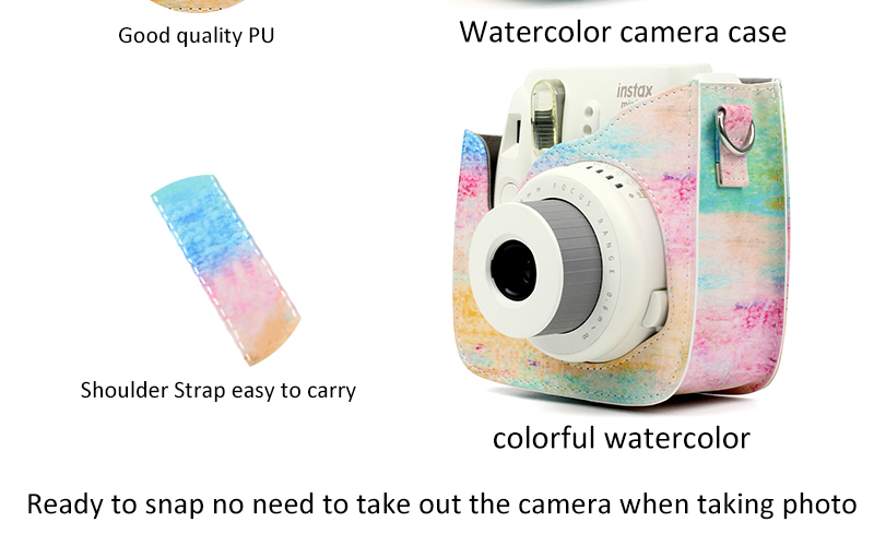 Watercolor Instax Camera Case Details