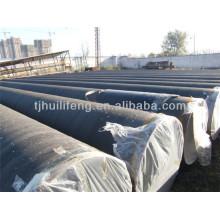 Argamassa de cimento revestida de tubos de aço soldados