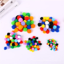 Factory direct sale Craft Fuzzy Assorted color Pompoms For Children diy and Party decoration