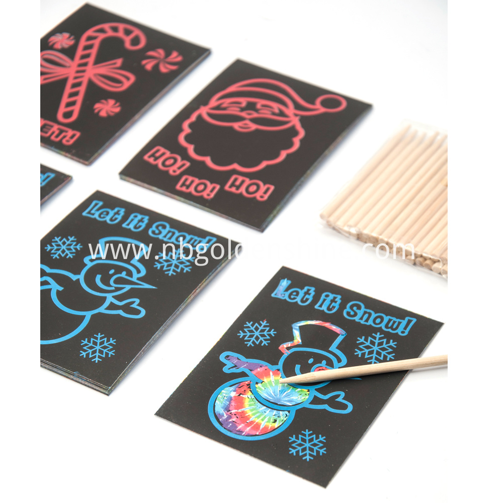 Rainbow Scratch Art Card
