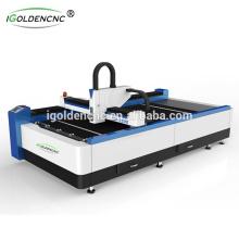 2017 máquina de corte por láser de fibra de venta caliente 750w 4x8 pies
