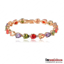 Colorful Teardrop Zircon Female Engagement Bracelets (CBR0018-C)