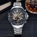 odm bands winner skeleton movement mechanical watch