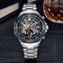 odm bands winner skeleton movement mechanical watch