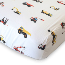 soft natural cotton car printing custom design oem service fitted sheet