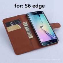 Аксессуары для мобильных телефонов для Samsung S6 Edge Wallet Leather Case
