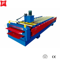 Supply for Double Layer Sheet Roll Forming Machine Russian style Double Deck roll forming machine export to Finland Manufacturers
