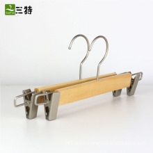 fancy low profile wooden trouser hangers