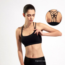 Sport style seamless breathable quick dry comfortable clothes yoga bra