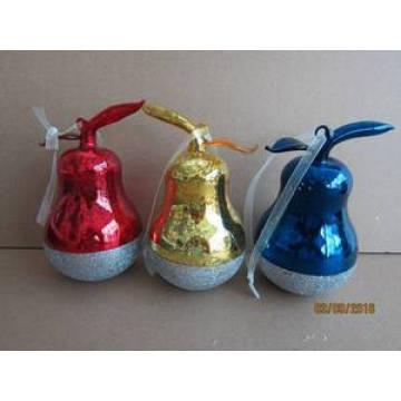Glass Pyriform Hang Décoration pour Noël