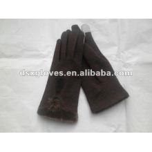 Brown Mode Frau Kaschmir Handschuhe für iphone