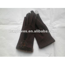 Brown Fashion Woman Cashmere Gloves for iphone