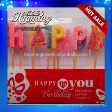 Bougies à lettre Hot Birthday