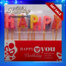 Hot sale Happy Birthday Letter candles
