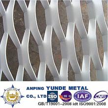 Malla de construcción expandida de aluminio, malla expandida revestida de PVDF
