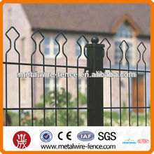 Welded metal arch top double wire mesh system