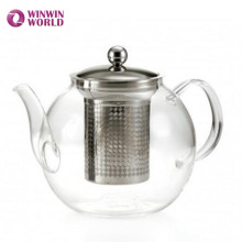 Wholesale Amazon Gift 1.5L Heat Resistant Borosilicate Glass Tea Pot With Infuser For Loose Leaf Tea