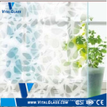 4mm-6mm Silk-Screening Decorative Art Glass with CE & ISO9001
