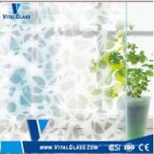 Vidro de arte decorativa de seda com 4 mm e 6 mm com CE e ISO9001