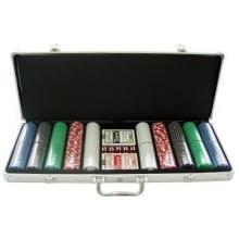 Valise de chariot de poker en aluminium à 1000 puces avec roues - Nouveau!