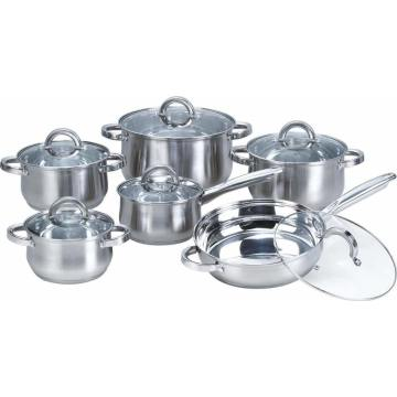 12-Piece Belly Shape Stainless Steel Cookware Sets