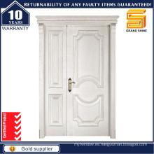 Diseño moderno Entrada principal Puerta de madera de doble entrada de madera