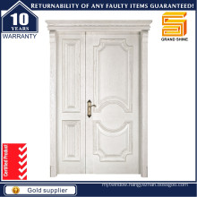 Modern Design Main Entrance Wooden Double Panel Entry Wood Door