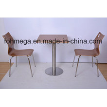 Square Plywood Cafe Table Set for 2 Persons (FOH-NCP23)