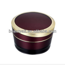 5g 10g 15g 30g 50g 100g tapered acrylic jar with decorative