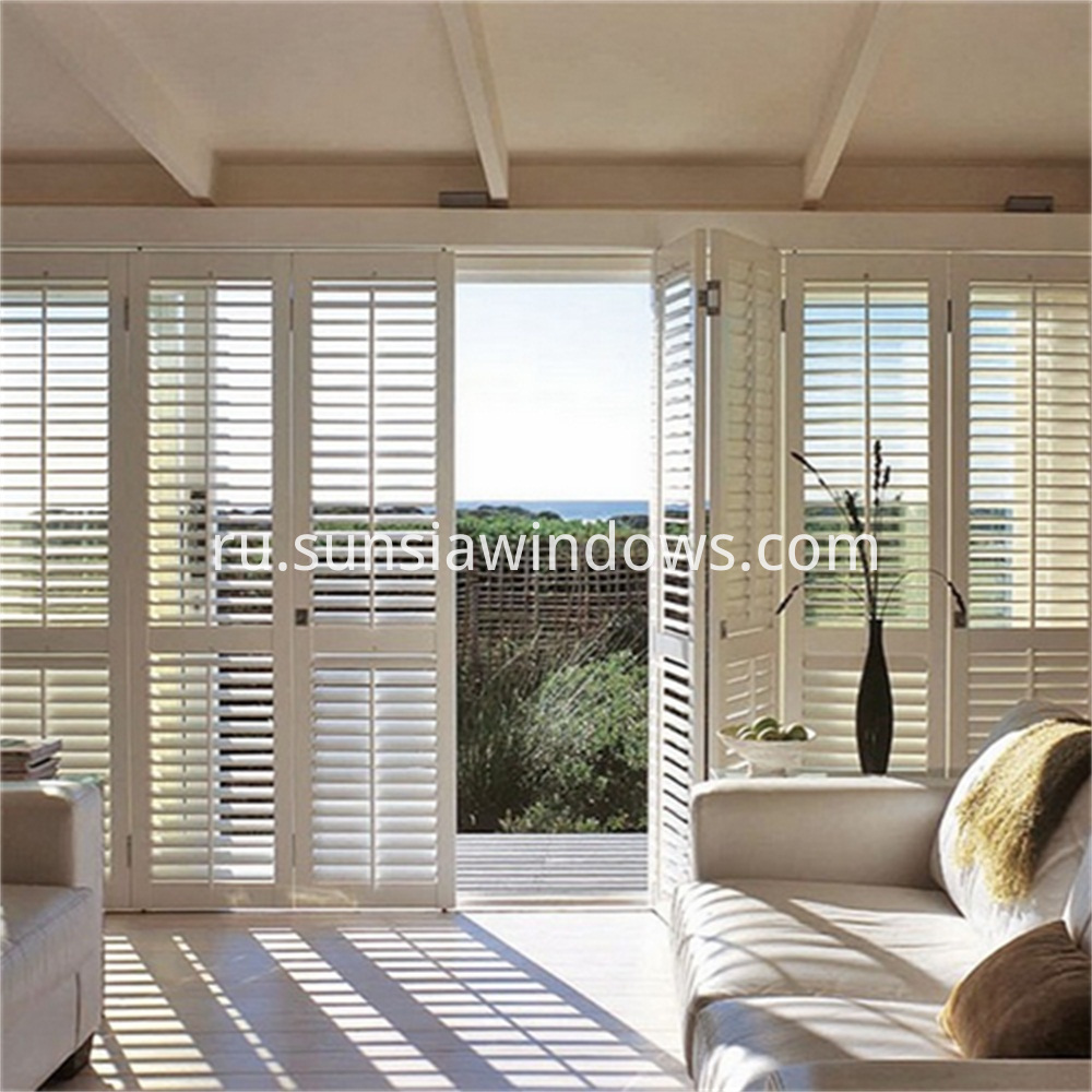 Aluminium Framed Plantation Shutter for Doors