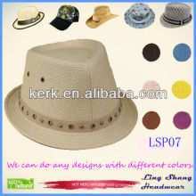 Newest Plain Panama 100% Natural Paper Straw hat panama top hats wholesale straw hats panama hats,LSP07