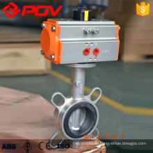 wafer stainless steel pneumatic butterfly valve