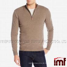 Männer 100% Cashmere Quarter-Zip Pullover